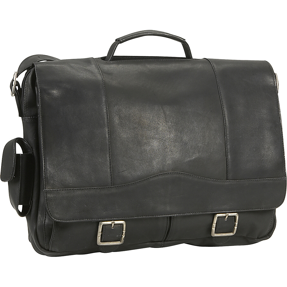 David King & Co. Porthole Briefcase - Black - Work Bags & Briefcases, Non-Wheeled Business Cases
