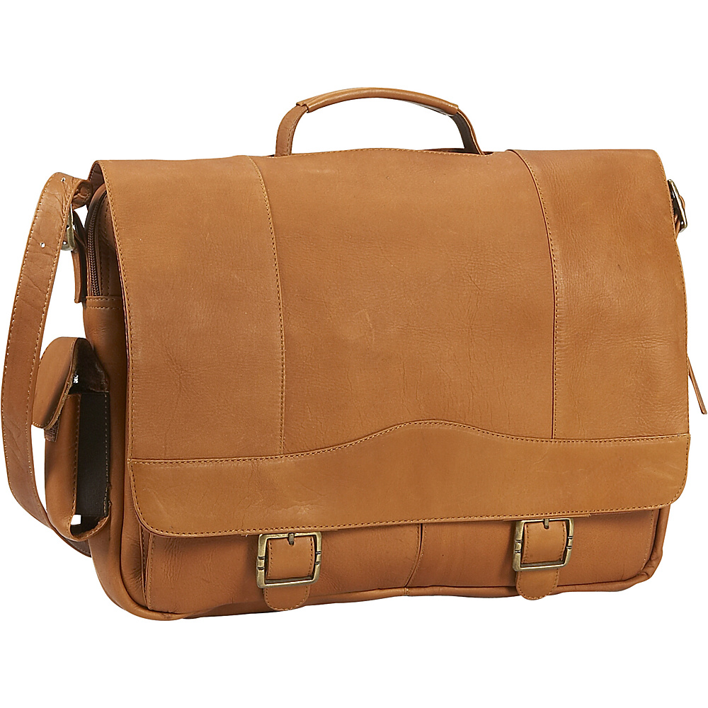 David King & Co. Porthole Briefcase Tan - David King & Co. Non-Wheeled Business Cases - Work Bags & Briefcases, Non-Wheeled Business Cases