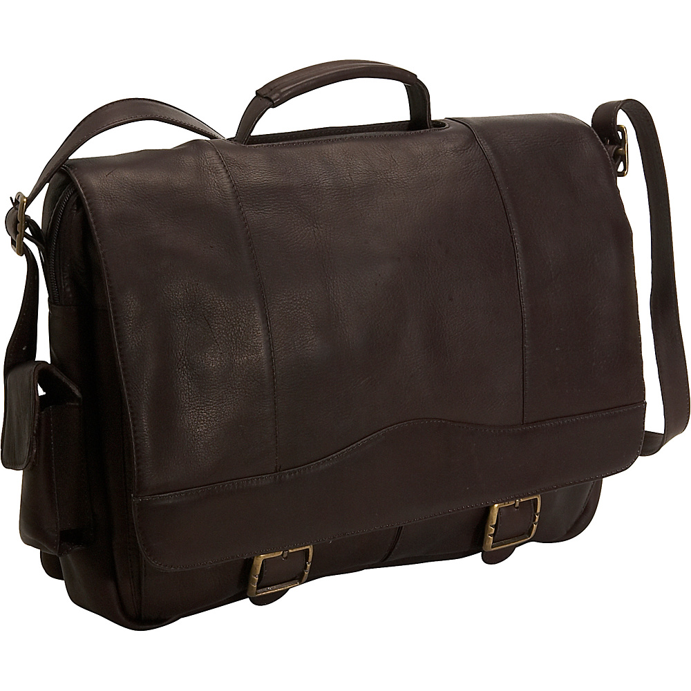 David King & Co. Porthole Briefcase - Cafe - Work Bags & Briefcases, Non-Wheeled Business Cases