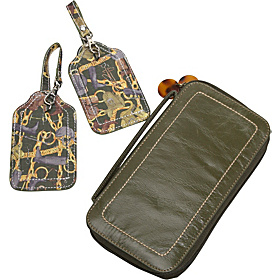 Equestrian Luggage Tags and Distressed Zip Around Passport Case Equestrian