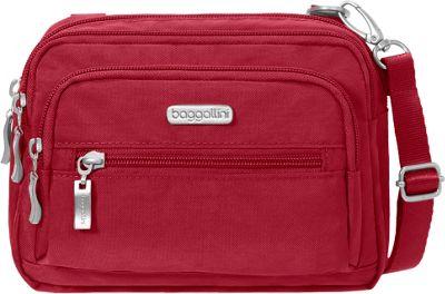 baggallini Triple Zip Crossbody Apple - baggallini Fabric Handbags