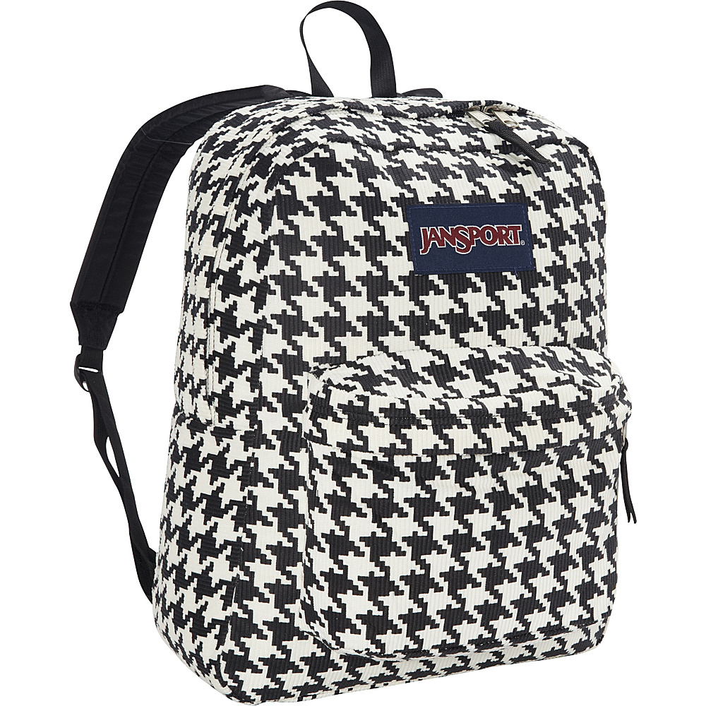 JanSport High Stakes Backpack White Black Houndstooth Corduroy - JanSport School & Day Hiking Backpacks - Backpacks, School & Day Hiking Backpacks