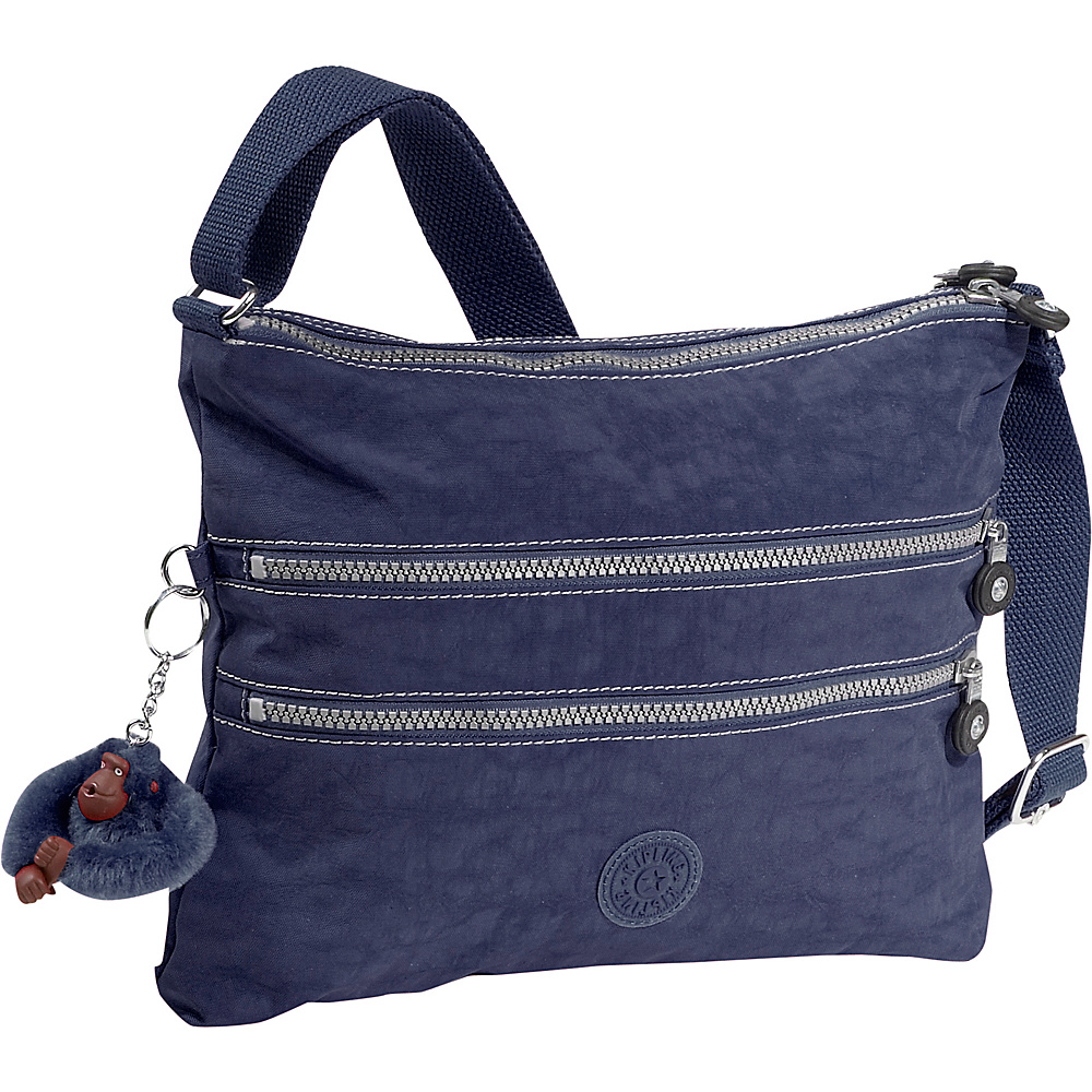 Kipling Alvar Crossbody Bag True Blue Kipling Fabric Handbags