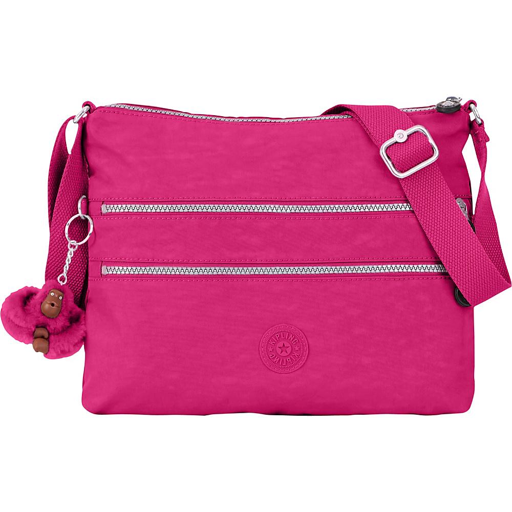 Kipling Alvar Crossbody Bag Very Berry Kipling Fabric Handbags