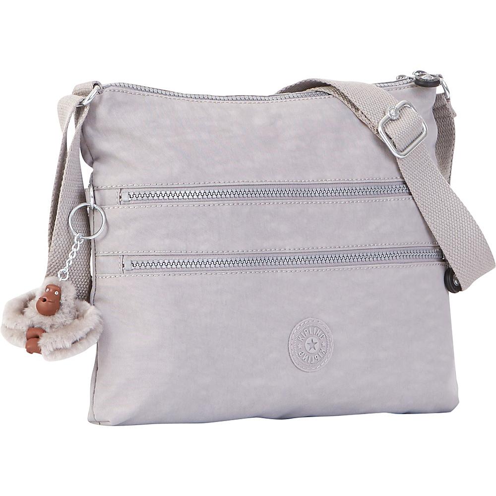 Kipling Alvar Crossbody Bag Slate Grey Kipling Fabric Handbags