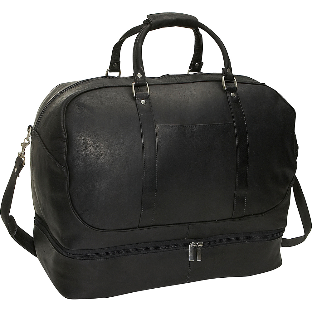 David King & Co. Duffel with Bottom Compartment - Black - Duffels, Travel Duffels