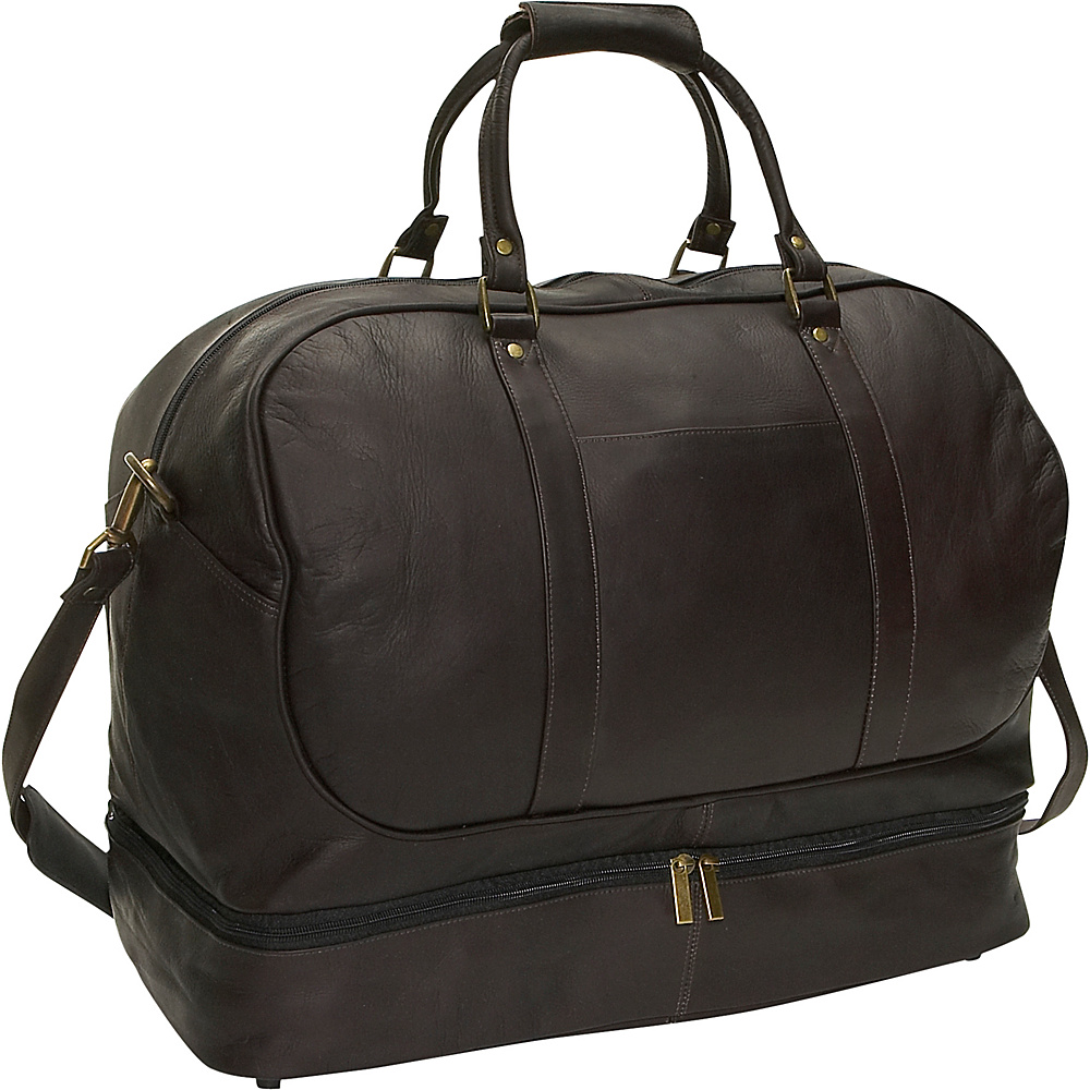 David King & Co. Duffel with Bottom Compartment - Cafe