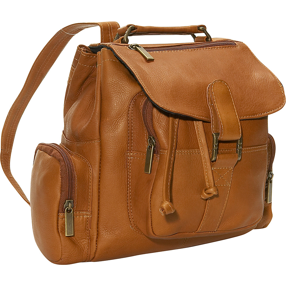 David King & Co. Mid Size Top Handle Backpack Tan - David King & Co. Manmade Handbags - Handbags, Manmade Handbags