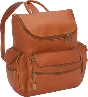David King & Co. Computer Backpack Tan - David King & Co. Business & Laptop Backpacks