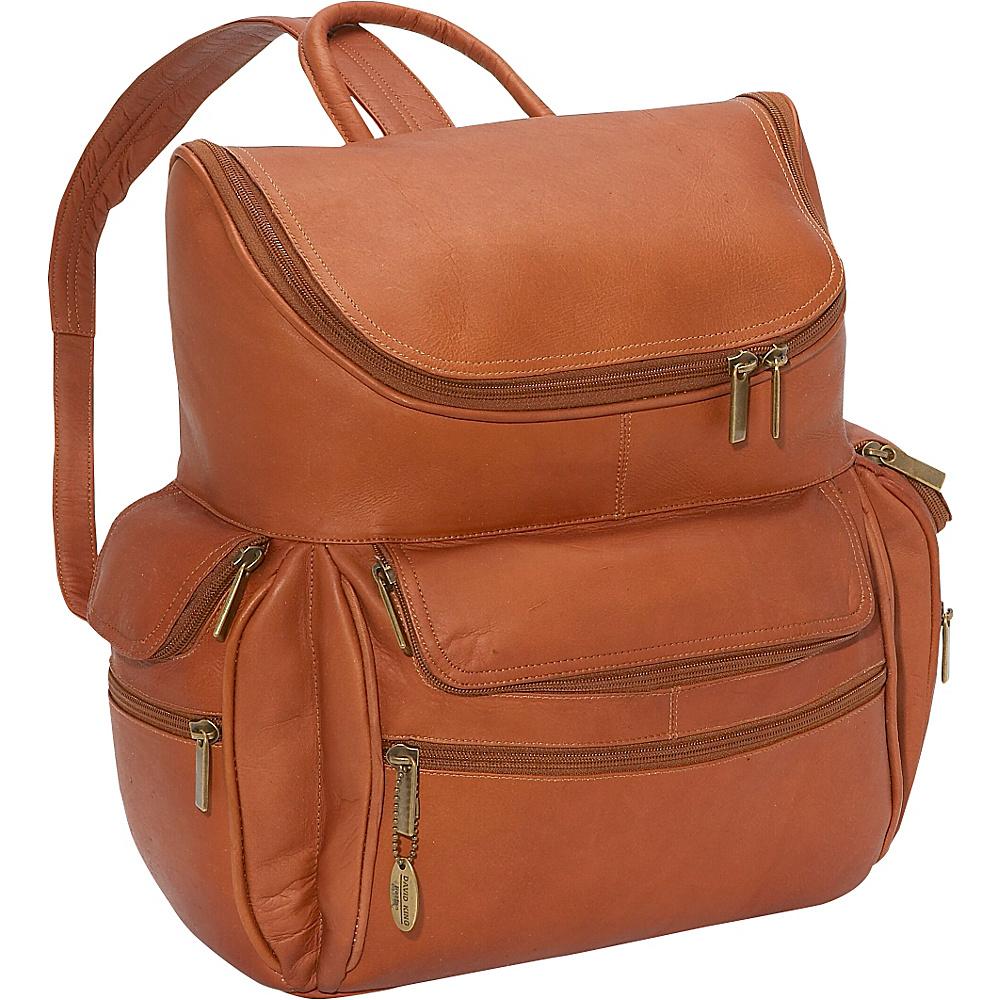 David King & Co. Computer Backpack Tan - David King & Co. Business & Laptop Backpacks