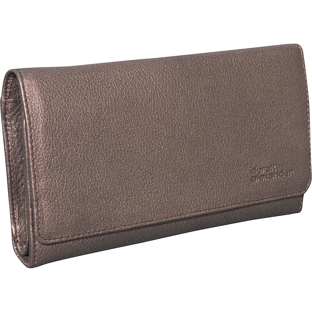 Derek Alexander Large Credit Card Clutch Bronze - Derek Alexander Womens Wallets - Women's SLG, Women's Wallets