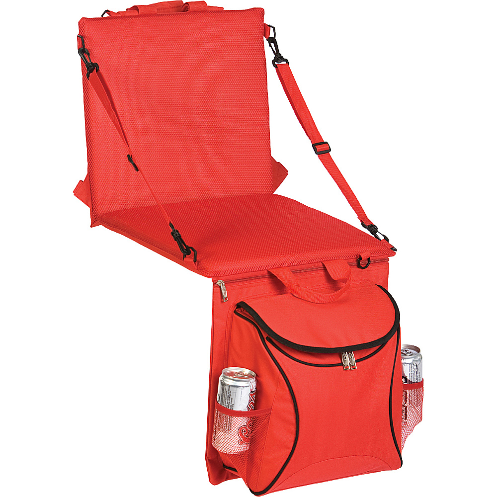 Picnic Plus Stadium Seat Cooler Red
