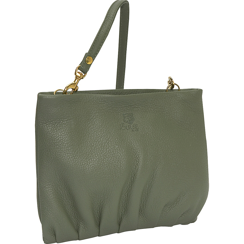 J. P. Ourse & Cie. Windemere Versatile Clutch - Sage - Handbags, Leather Handbags