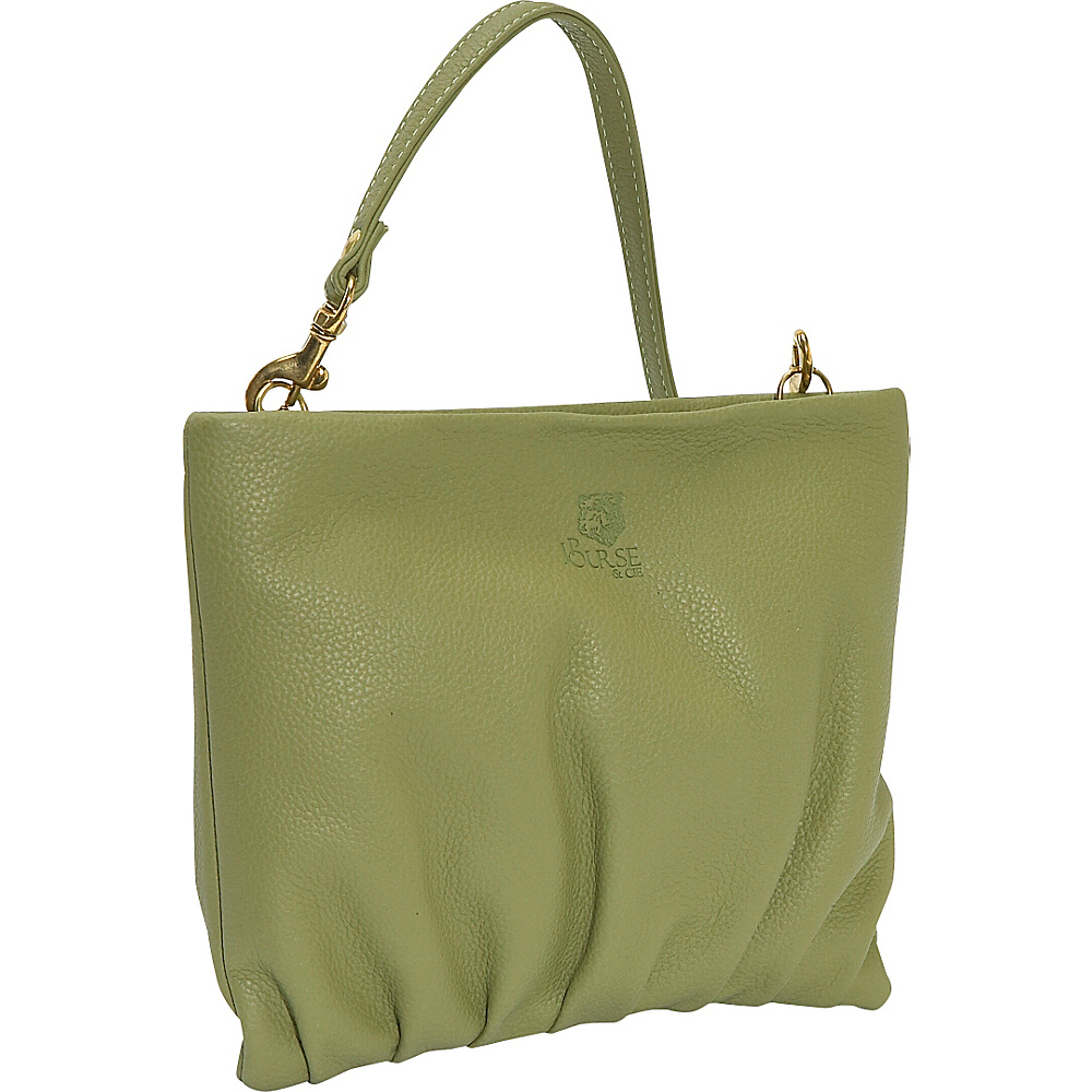 J. P. Ourse & Cie. Windemere Versatile Clutch - Kiwi - Handbags, Leather Handbags
