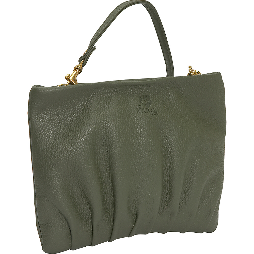 J. P. Ourse & Cie. Windemere Versatile Clutch - Olive - Handbags, Leather Handbags