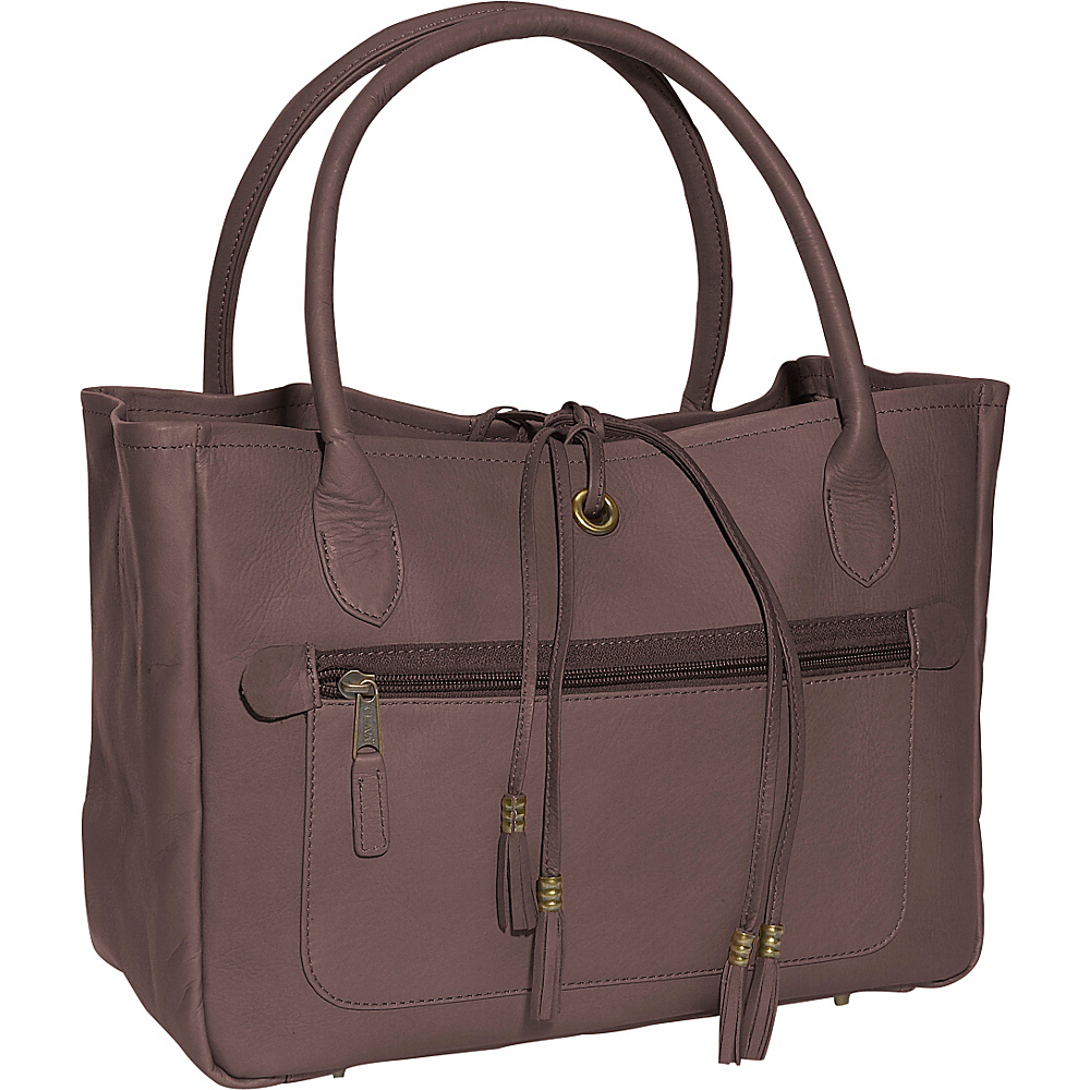 Clava Tassel Tote - Vachetta Cafe - Handbags, Leather Handbags