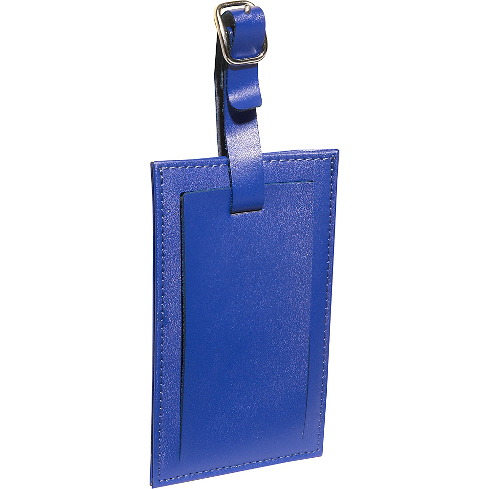 Clava Rectangle Luggage Tag Cl Blue Clava Luggage Accessories