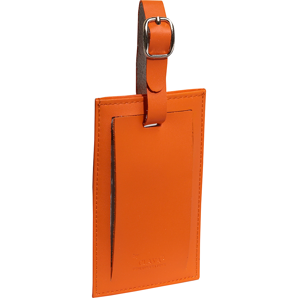 Clava Rectangle Luggage Tag CI Orange Clava Luggage Accessories