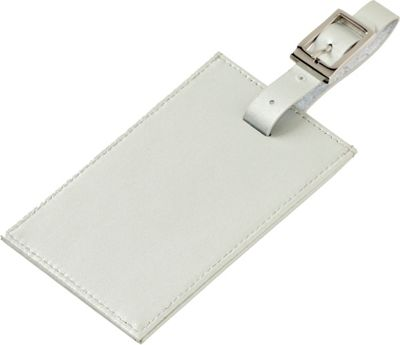 Clava Rectangle Luggage Tag Silver - Clava Luggage Accessories