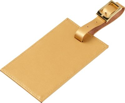 Clava Rectangle Luggage Tag Gold - Clava Luggage Accessories