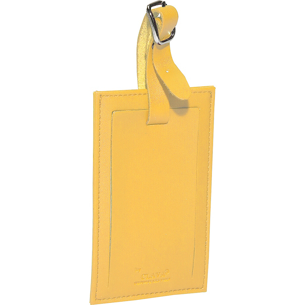 Clava Rectangle Luggage Tag - CI Yellow - Travel Accessories, Luggage Accessories