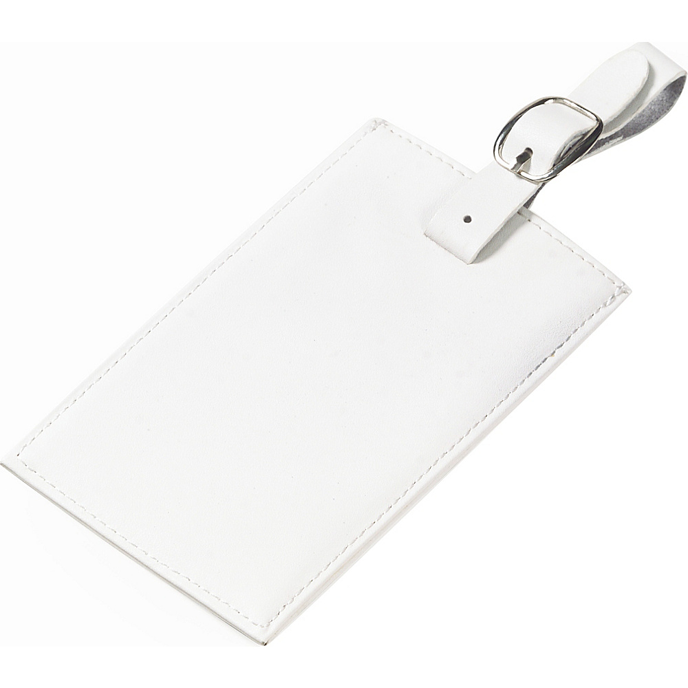 Clava Rectangle Luggage Tag - CI White - Travel Accessories, Luggage Accessories