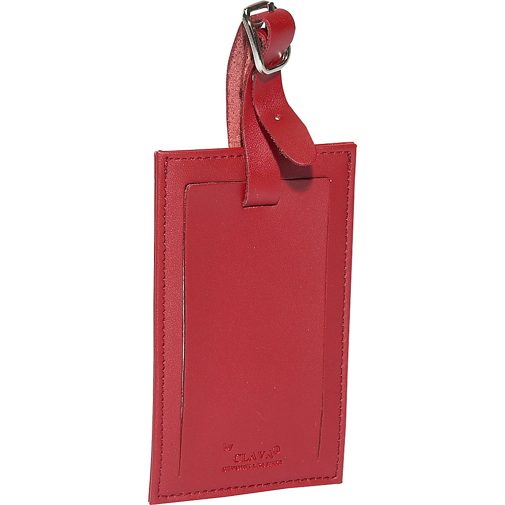 Clava Rectangle Luggage Tag - Cl Red - Travel Accessories, Luggage Accessories