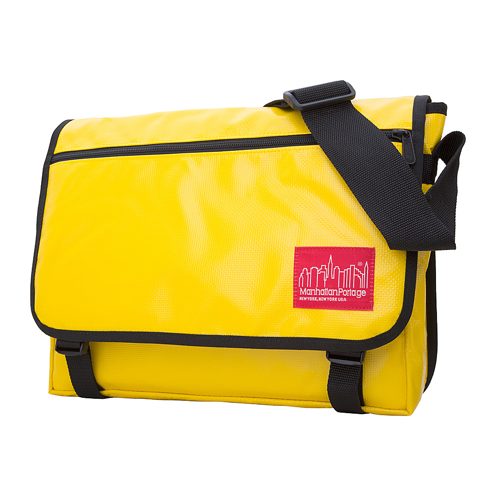 Manhattan Portage Europa Messenger Bag Vinyl (MED) Yellow - Manhattan Portage Messenger Bags - Work Bags & Briefcases, Messenger Bags