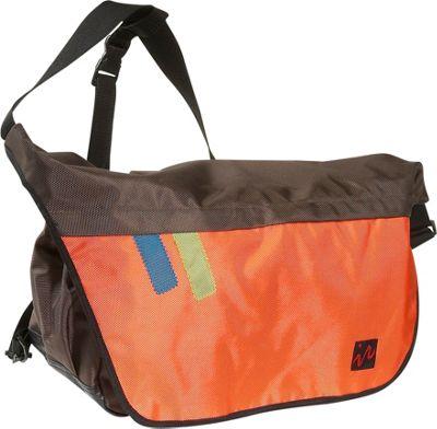 Ice Red Drift Messenger Bag - Large - Brown/Orange