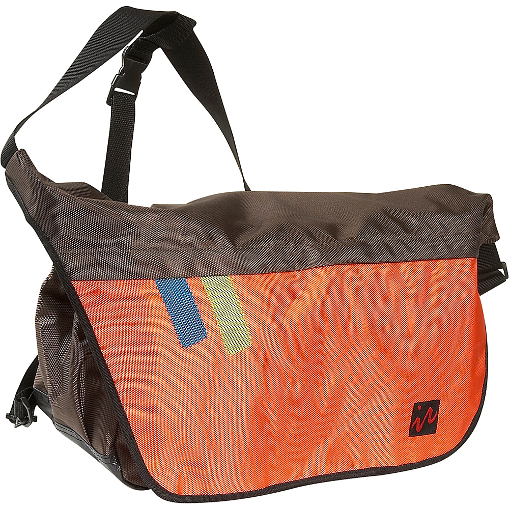 Ice Red Drift Messenger Bag - Large - Brown/Orange - Work Bags & Briefcases, Messenger Bags