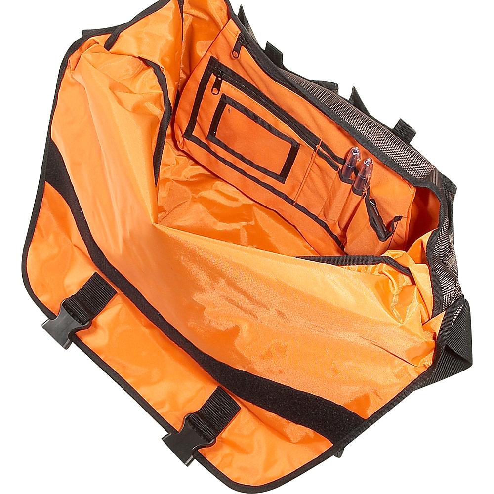 Ice Red Drift Messenger Bag - Large - Brown/Yellow