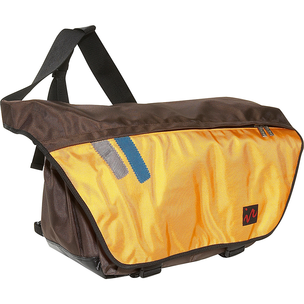 Ice Red Drift Messenger Bag - Large - Brown/Yellow - Work Bags & Briefcases, Messenger Bags