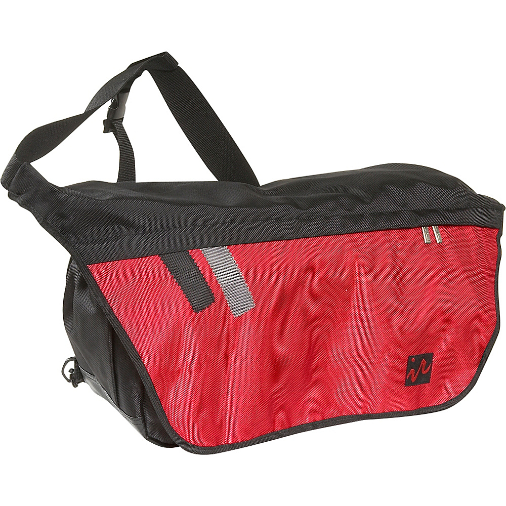 Ice Red Drift Messenger Bag - Large - Black/Red - Work Bags & Briefcases, Messenger Bags