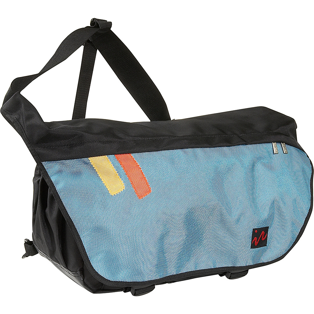 Ice Red Drift Messenger Bag - Large - Black/Blue - Work Bags & Briefcases, Messenger Bags