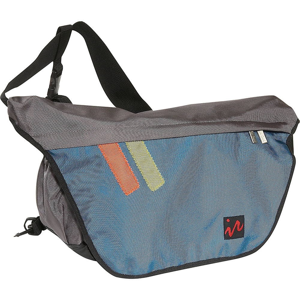 Ice Red Drift Messenger Bag - Large - Grey/Blue - Work Bags & Briefcases, Messenger Bags