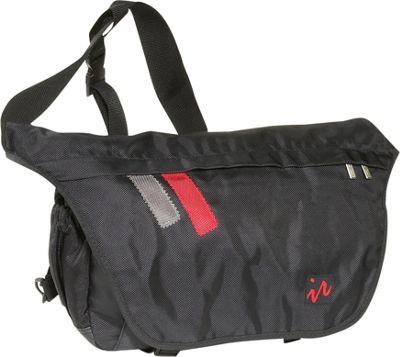 Ice Red Drift Messenger Bag - Large - Black/Black