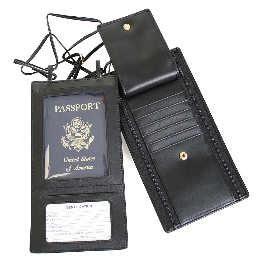 Royce Leather Security Passport Wallet - Black - Travel Accessories, Travel Wallets