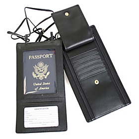 Security Passport Wallet Black