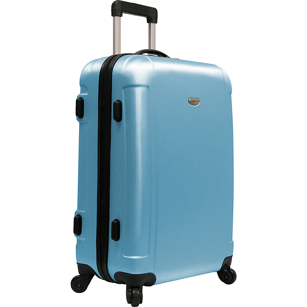 Traveler's Choice Freedom 25 in. Hardshell Spinner Upright Arctic Blue - Traveler's Choice Hardside Checked