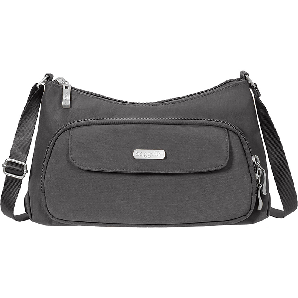 baggallini Everyday Crossbody Charcoal - baggallini Fabric Handbags - Handbags, Fabric Handbags