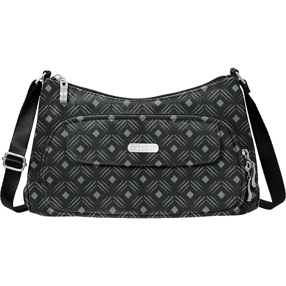 baggallini Everyday Crossbody Black Diamond Print - baggallini Fabric Handbags - Handbags, Fabric Handbags