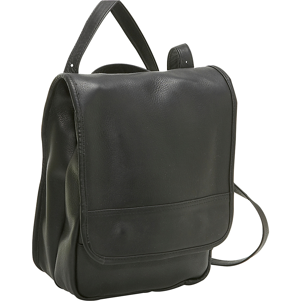 Le Donne Leather Convertible Back Pack Shoulder Bag - Handbags, Leather Handbags