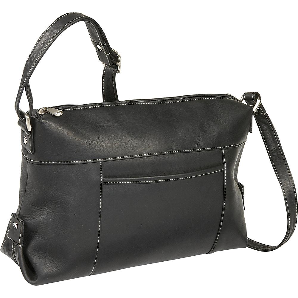 Le Donne Leather Top Zip Front Slip Shoulder Bag - Handbags, Leather Handbags