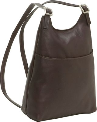 Cool Womens Leather Backpack Purse Sling Shoulder Bag Handbag 3 In 1 Convertible New Brown One Size ...