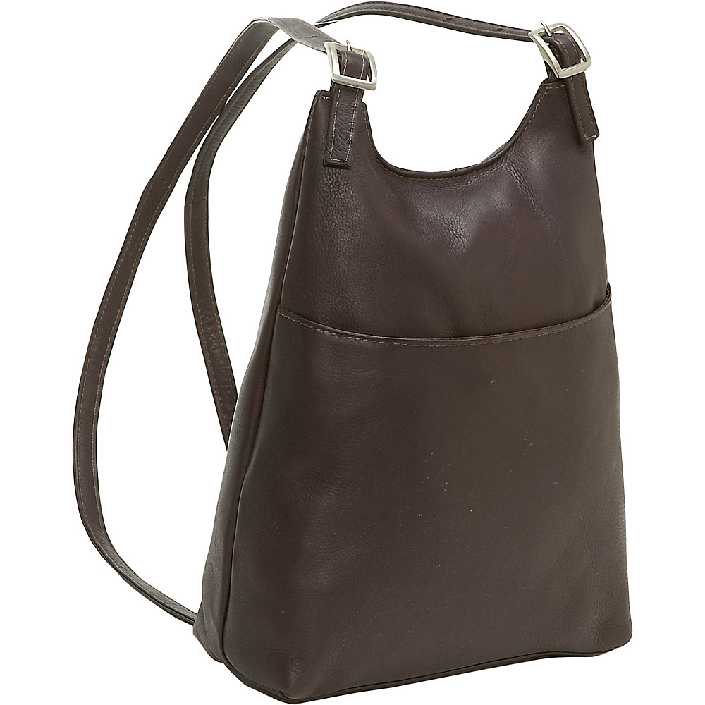 Le Donne Leather Women's Sling BackPack Purse - Caf