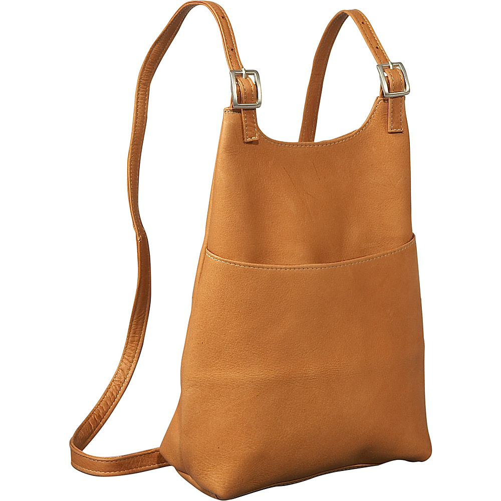 Le Donne Leather Womens Sling BackPack Purse - Tan - Handbags, Leather Handbags