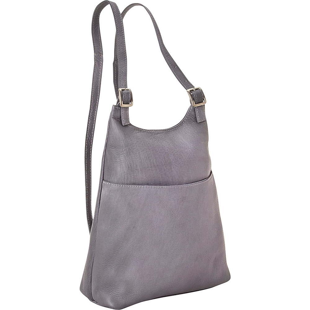 Le Donne Leather Womens Sling BackPack Purse Gray - Le Donne Leather Leather Handbags - Handbags, Leather Handbags