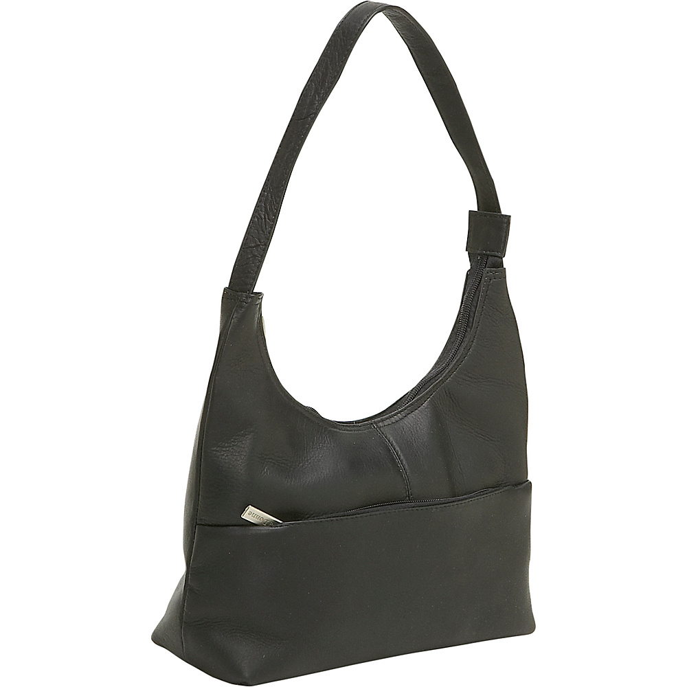 Le Donne Leather Top Zip Hobo - Black - Handbags, Leather Handbags