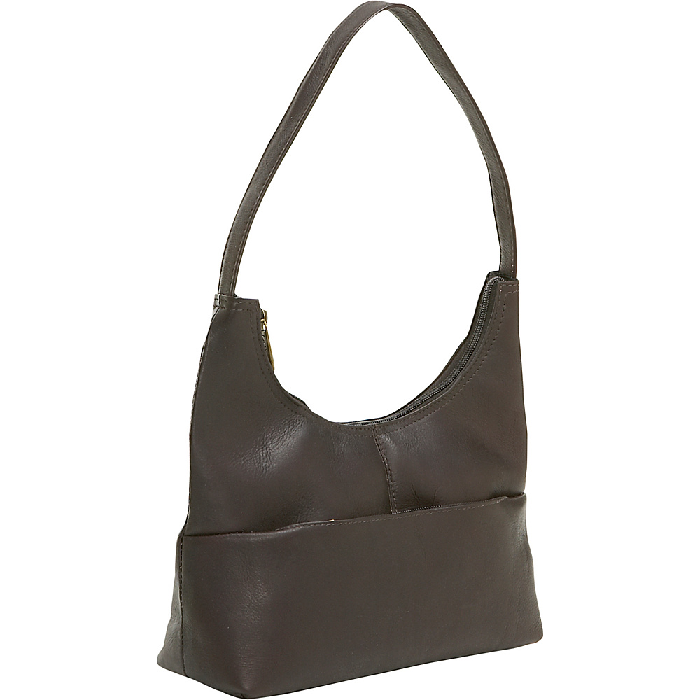 Le Donne Leather Top Zip Hobo - Caf - Handbags, Leather Handbags