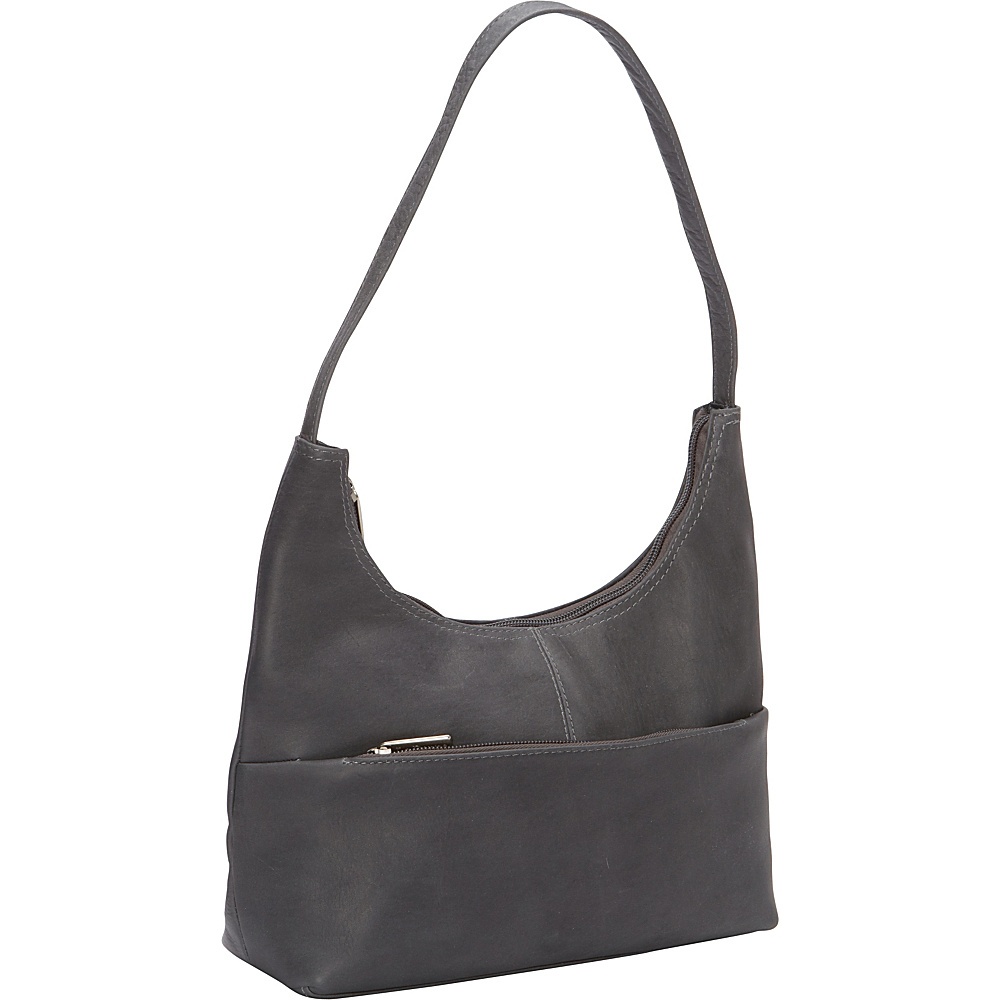 Le Donne Leather Top Zip Hobo Gray - Le Donne Leather Leather Handbags - Handbags, Leather Handbags